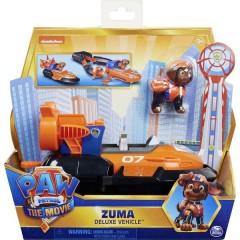 Paw Patrol Zumas Deluxe veicolo di base dal cinema con personaggio del cane, auto giocattolo