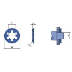 Rondella di bloccaggio Adatto per diametro dellalbero: 8 mm 20 pz.