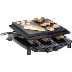 RC4 plus deluxe Raclette 8 vaschette Nero