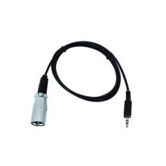 DMX Adattatore [1x Spina jack da 3.5 mm - 1x Spina XLR] 1.00 m DMX-Adapter IN