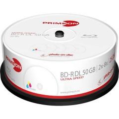 Blu-ray BD-R DL vergine 50 GB 25 pz. Torre stampabile
