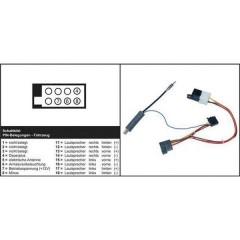 Cavo adattatore attivo per radio ISO Adatto per (marca auto): Skoda, Volkswagen