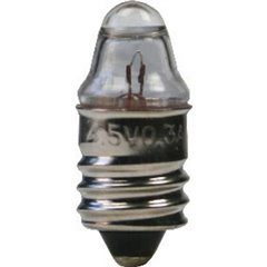 Lampadina per torce elettriche 4.50 V 1.35 W Attacco E10 Trasparente 1 pz.