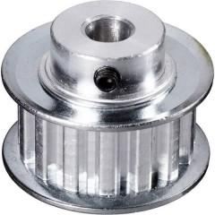 Alluminio Puleggia per cinghia dentata Ø foro: 6 mm Diametro: 24 mm Numero di denti: 10