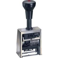 Numeroteur B6 Timbro numeratore progressivo automatico 23 x 6 mm (L x A) Cromo, Nero