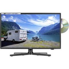 TV LED 22 pollici ERP F (A - G) CI+, DVB-C, DVB-S2, DVB-T2 HD, PVR ready, DVD-Player, Full HD Nero (lucido)