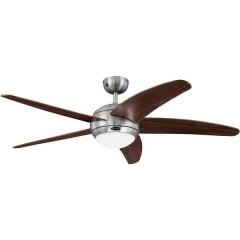 Bendan Ventilatore da soffitto (Ø) 132 cm Col. pala: Marrone Col. corpo: Alluminio (spazzolato)