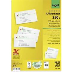 Biglietti da visita stampabili, bordi lisci 85 x 55 mm Bianco puro 100 pz. Formato carta: DIN A4
