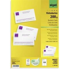 Biglietti da visita stampabili microforati 85 x 55 mm Bianco puro 150 pz. Formato carta: DIN A4