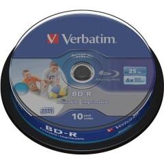 Blu-ray BD-R vergine 25 GB 10 pz. Torre stampabile