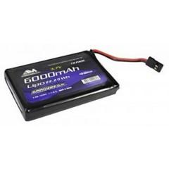 Batteria ricaricabile LiPo 3.7 V 6000 mAh Softcase Presa JR