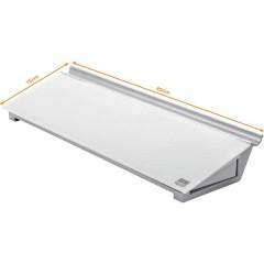 Bacheca in vetro Diamond Glass Memo Desktop (L x A) 45.8 cm x 6 cm Bianco Brillante Incl. ripiano portaoggetti,