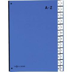 Cartellina classificatrice Cellulosa spessa Blu DIN A4 Numero scomparti: 24 A-Z