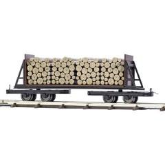 Per ferrovia da cantiere H0f carrello a pianale Con parete e carico di legna