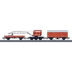 Set treno vigili del fuoco con carro gru di DB Notfalltechnik in scala H0