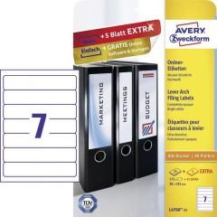 Etichetta per raccoglitore da ufficio 38 x 192 mm Carta Bianco Permanente 210 pz.