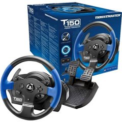 T150 RS Force Feedback Volante USB 2.0 PlayStation 3, PlayStation 4, PC Nero, Blu incl. Pedale