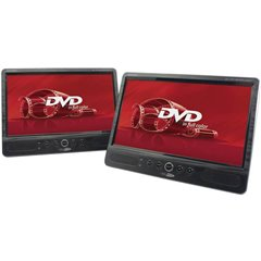 Lettore DVD per poggiatesta con 2 monitor Diagonale schermo=25.4 cm (10 pollici)