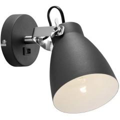 Largo Faretto da parete E27 25 W LED (monocolore) Nero