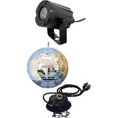 LED (monocolore) KIT palla a specchi con illuminazione a LED, con motore 20 cm