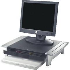 Rialzo per monitor 80311 Altezza: 10 fino a 15 cm Nero, Argento