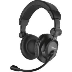 Como Cuffia Headset per PC Jack 3,5 mm Filo Cuffia Over Ear Nero