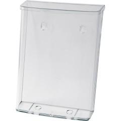 Porta depliant Acrilico trasparente DIN A4 verticale Numero scomparti 1 1 pz. (L x A x P) 247 x 339 x 88 mm