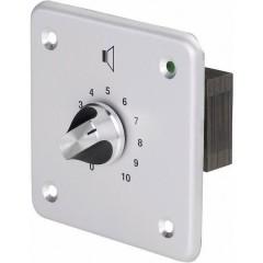 Ad incasso Controllo volume PA Argento, Alluminio (spazzolato)