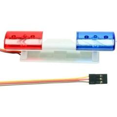 Luce della polizia a LED Blu, Rosso lampeggianti 5 - 6 V