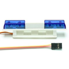Luce della polizia a LED Blu lampeggianti 5 - 6 V