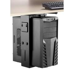 Supporto per PC Sottotavolo, Verticale, Orizzontale Nero Carico massimo fino a=10 kg