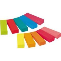 Strisce adesive 10 Blocchi/Conf Giallo, Ultra-Giallo, Rosa pastello, Arancione Neon , Ultra-Rosa ,