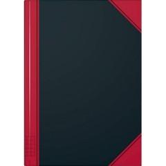 Kladde Taccuino quadretti Nero-rosso Numero di fogli: 96 DIN A5