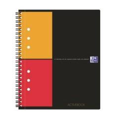 blocco college Grigio, Arancione, Rosso DIN A5+ quadretti Numero di fogli: 80