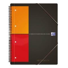 blocco college Grigio, Arancione, Rosso DIN A4+ quadretti con margine interno/esterno Numero di fogli: