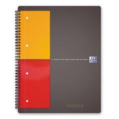 blocco college Grigio, Arancione, Rosso DIN A4+ quadretti Numero di fogli: 80