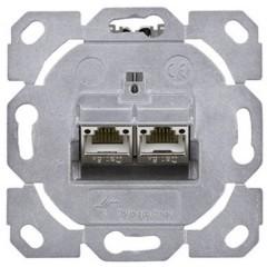 Presa di rete Da incasso Inserto CAT 6A 2 Porte