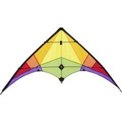 Aquilone acrobatico Rookie Rainbow Larghezza estensione 1200 mm Intensità del vento 3 - 5 bft