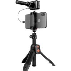 iRig Mic Video Bundle verticale Microfono portatile Tipo di trasmissione:Cablato incl. stativo, incl.