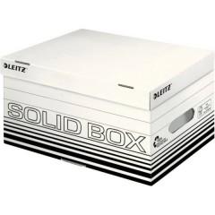 Contenitore per archivio 265 mm x 195 mm x 370 mm Cartone Bianco, Nero 10 pz.
