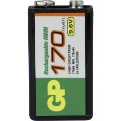 6LR61 Batteria ricaricabile da 9 V NiMH 170 mAh 9.6 V 1 pz.