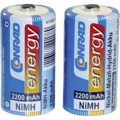 HR14 Batteria ricaricabile 1/2 Torcia (C) NiMH 2200 mAh 1.2 V 2 pz.