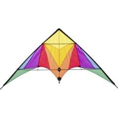 Aquilone acrobatico Rainbow trigger Larghezza estensione 1750 mm Intensità del vento 2 - 6 bft