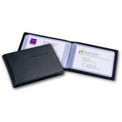 Busta porta biglietti da visita 40 Schede (L x A x P) 110 x 75 x 12 mm Nero Plastica