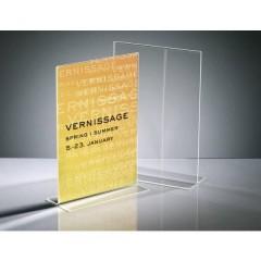 Espositore da tavolo a forma di T adatto per formato carta: DIN A4 Trasparente 1 pz.