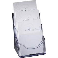 Porta depliant da tavolo Trasparente DIN A5 Numero scomparti 3 1 pz. (L x A x P) 175 x 290 x 150 mm