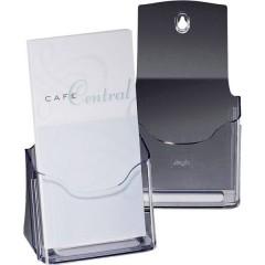 acrylic Porta depliant da tavolo Trasparente DIN lungo, DIN A6 Numero scomparti 1 1 pz. (L x A x P) 125 x