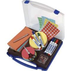 MINI Valigetta per presentazioni Plastica Numero parti: 1100 31 cm x 6 cm x 34.5 mm Blu, Trasparente