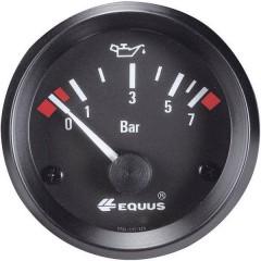 Indicatore pressione olio Strumento da incasso Campo di Misura 0 - 7 bar Standart Giallo, Rosso, Verde 52