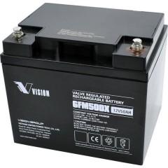 FM-Serie Batteria solare 12 V 50 Ah Piombo-AGM (L x A x P) 197 x 170 x 165 mm Vite M6